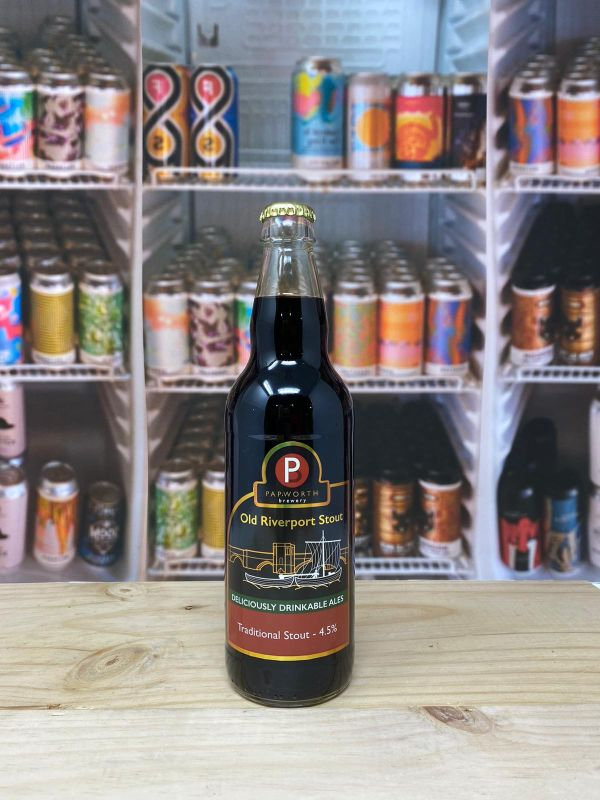 Papworth Brewery Old Riverport Stout 4.5% 50cl Bottle